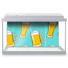 Fish Tank Background 90x45cm - Beer Glasses Pub Home Bar  #2853