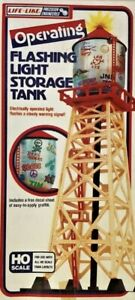 Life-Like #8205 HO Scale Flashing Light Yard Storage Tank