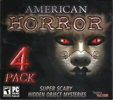 American Horror 4 Pack PC Games Windows 10 8 7 XP Computer hidden object games