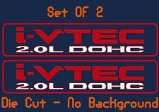 Restoration Honda I - Vtec DOHC 2.0 Vinyl Decal Stickers JDM Civic Engine Door