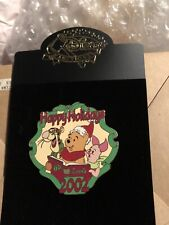 Disney Auctions Tigger Happy Holidays 2002 Pin Le 100 Winnie The Pooh Piglet