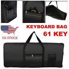 61-Key Keyboard Electric Piano Padded Case Gig Bag Advanced Fabric Black Us