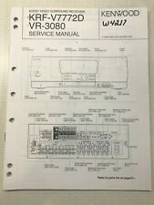 KENWOOD KRF-V7772D VR-3080 A V SURROUND RECEIVER ORIGINAL SERVICE REPAIR MANUAL