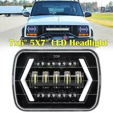 "7x6'' 5X7"" 55W LED Projector Headlight Hi-Lo Beam Halo DRL For Jeep Cherokee XJ"