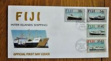 SHIPS INTER-ISLANDS SHIPPING IN FIJI ISLAND COMPLETE 4 STAMP SET 1992 FDC