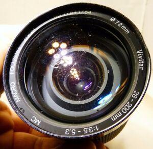 Vivitar 28-200mm F3.5-5.3 Manual Focus Lens For Pentax KA KR AS IS PARTS REPAIR