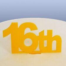 16th Birthday Cake Topper - Yellow