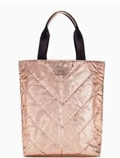 $58 VICTORIAS SECRET ROSE GOLD METALLIC TOTE BAG LIMITED EDITION NWT Free Ship