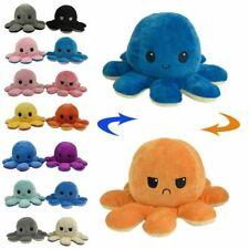 Reversible Flip Octopus Stuffed Plush Doll Soft Simulation Reversible Plush Toy