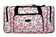 Owl Print Holdall Sport Bag Cheap Defect in Print Gym Holiday Summer Ladies Girl