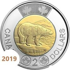 CANADA 2019 New $2 Toonie ORIGINAL POLAR BEAR (UNC From mint roll)