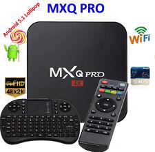 MXQ Pro 4K Amlogic S905 Android 5.1 Quad-Core WiFi Smart TV Box 8GB + Tastatur