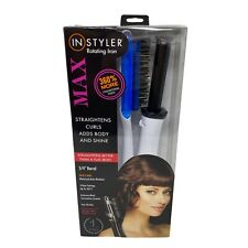 """InStyler Max Rotating Curling Iron 3/4"""" Barrel 2 Way Rotation White and Blue"""
