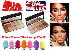 Face Make up Foundation Highlighter Concealer Correction Cream Contour Free Puff