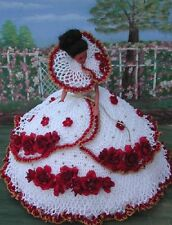 CROCHET FASHION DOLL PATTERN-ICS DESIGNS-30 RED ROSES