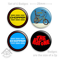 "RALEIGH CHOPPER Mk1 Love 70's Vintage Retro-1"" Badge x4 Badges NEW - Set 2"