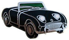 Austin Healey Sprite MkI (Bugeye - Frogeye) car cut out lapel pin  - Black