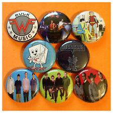 "WEEZER 1"" buttons badge RIVERS CUOMO EMO POP BLUE ALBUM"