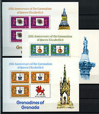 Grenadines Grenada 1978 Coronation 25th Anniv MNH Sheetlets Set #D52285