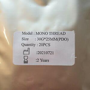 20 PDO mono threads 30 x 25mm  Eyes/Lips/Face. Mnf'd july 2021 UK FAST.