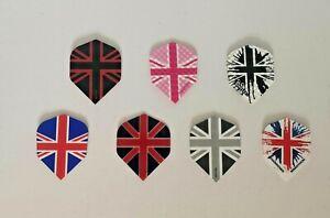 3 x sets (9 flight) Union Jack Standard Dart Flights - Harrows, Dimplex, Designa