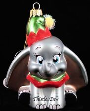 DISNEY Parks DUMBO ORNAMENT Blown Glass EXCLUSIVE New CHRISTMAS SHOP Elephant