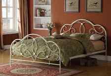 romantisches Bett 90 x 200 weiß Ehebett Gästebett Einzelbett Metallbett günstig