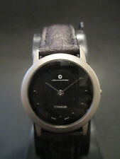 A24 NEW Women's JB CHAMPION TITANIUM WATCH QUARTZ LEATHER VINTAGE CASUAL Gift in
