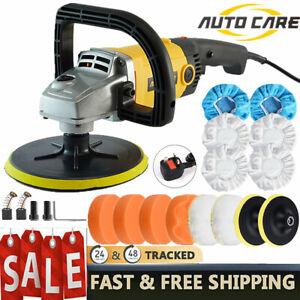 "1200W 7"" Car Polisher Sander Electric Buffer Polishing Waxing Machine Polish Kit"