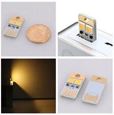 MINI Luce 2 LED per qualsiasi presa USB REVERSIBILE ALTO / BASSO FRONTE/RETRO