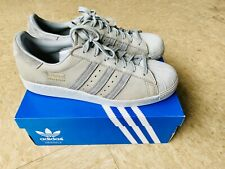 Grey Adidas Superstars Men's Size 9.5