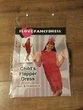 Fancy Dress - Child's Red Flapper Dress - Worn Once - Size XL