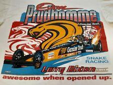 VTG 90s 1995 NHRA Don Prudhomme Larry Dixon Drag Racing Double Sided T shirt XL