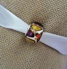 Silver Red Green Multicolor Murano Glass Bead For European Charm Bracelet