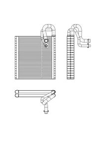 A/C Evaporator Core TYC 97352