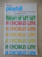 1980 - Neal Blaisdell Concert Theatre - A Chorus Line - Tommy Aguilar