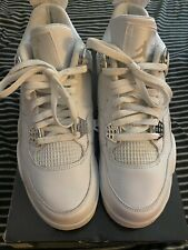 "NDS Air Jordan IV Retro 4 White/Metallic Silver ""Pure Money"" Size 9 2006"