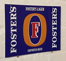 Fosters Larger Retro metal Aluminium Sign vintage bar pub man cave beer signs