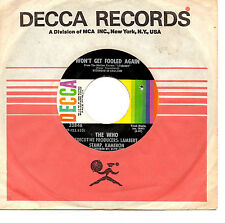 "THE WHO - WON'T GET FOOLED AGAIN - 7"" 45 VINYL RECORD 1971"