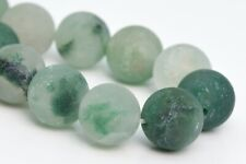 10MM Natural Matte Green Calcedony Beads Grade AAA Round Loose Beads 7.5""