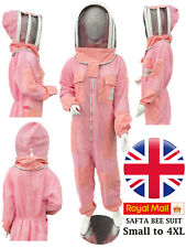 New Pink Pro 3 Layers Ventilated Bee Keeper Suit With FREE Gloves Small to 4XL
