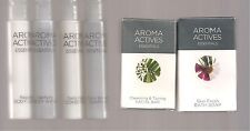 54 AROMA ACTIVES ESSENTIALS Shampoo,-Soap-Body Wash -Travel Size