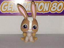 Littlest PetShop Lapin Marron et Blanc  n°434 Pet Shop rabbit
