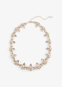 Phase Eight Alannah Navette Necklace Rose Gold RRP32
