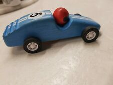 Pintoy Wooden racing car pull back motor      vintage