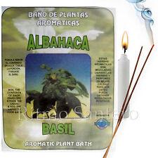 Spiritual Plant Bath BASIL-ALBAHACA Herb Wash Bano Despojo Limpia Santeria Wicca
