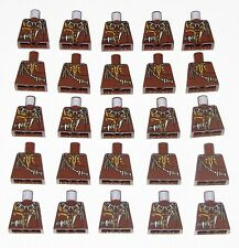 LEGO LOT OF 25 NEW REDDISH BROWN MONSTER ALIEN PARTS NO ARMS