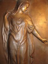 Uraltes Original Jugendstil Bronze Figur Relief K 22  Mädchen Frau 57 cm um 1920