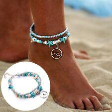 Rétro Bohème étoile de mer Waves perles Anklets plage pied chaîne Bracelet Mode