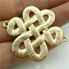 14097*5PCS Matte Gold Color Tradition Chinese Knot Connector Pendant Charm